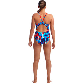 Funkita Diamond Back Costume da bagno intero Donna, block rock